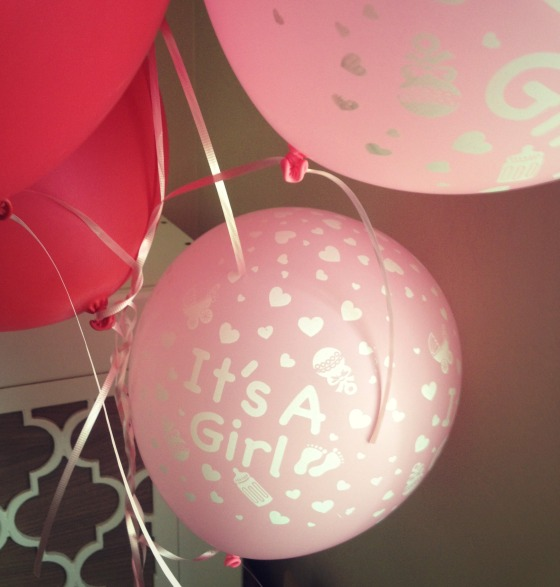its a girl ballons
